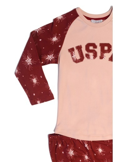 U.S. Polo Assn. Us Polo Assn Lisanslı Kız Çocuk Pijama Takımı Pembe Pembe